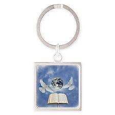 Biblia Square Keychain