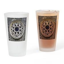 stone rose window Drinking Glass