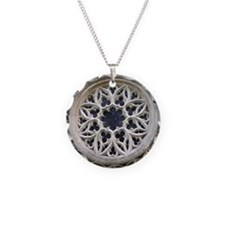 stone rose window Necklace