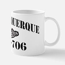 albuquerque black letters Mug