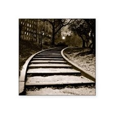 """Stairs Card Square Sticker 3"""" x 3"""""""