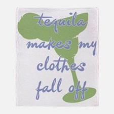 TequilaMakesMyClothes_periwk Throw Blanket