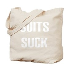 2-Suits Suck 2 Tote Bag