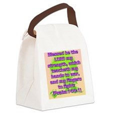 Psalm144-1 Canvas Lunch Bag