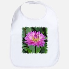Purple Yellow Dahlia Bib