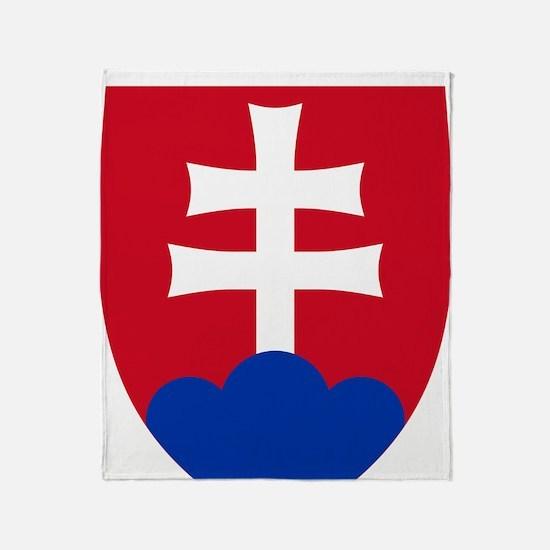 SlovakiaCoat1Bk Throw Blanket