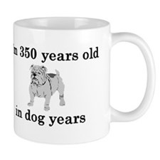 50 birthday dog years bulldog 2 Mugs