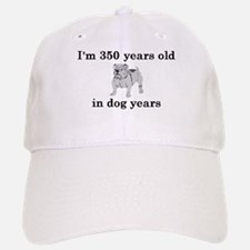 50 birthday dog years bulldog 2 Baseball Baseball Baseball Cap