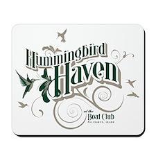 HummingbirdHaven-ForestTan Mousepad
