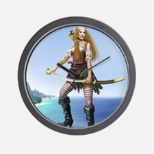 pirate wench square Wall Clock