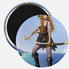 pirate wench square Magnet