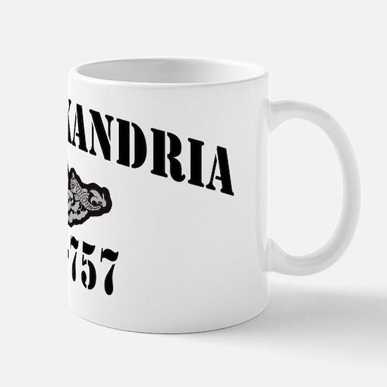alexandria black letters Mug