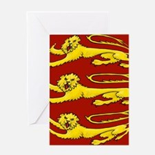 lion passant for round things Greeting Card