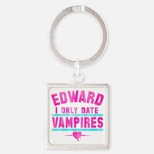 only date vampires-wht Square Keychain