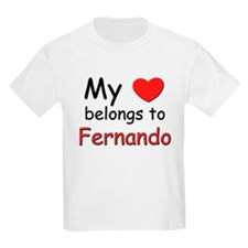 My heart belongs to fernando Kids T-Shirt