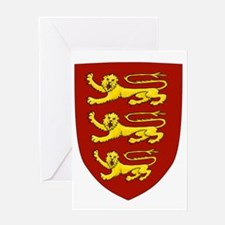 plantagenet shield Greeting Card