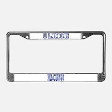 ULRICH University License Plate Frame