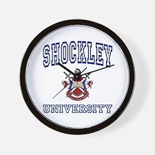 SHOCKLEY University Wall Clock