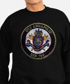 annapolis patch trnaparent Sweatshirt