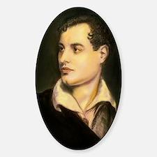 byron portrait coloured Sticker (Oval)