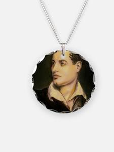 byron portrait coloured Necklace