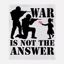 war is not the answer rev Throw Blanket