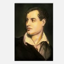 byron portrait coloured Postcards (Package of 8)
