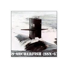 "archerfish note card Square Sticker 3"" x 3"""
