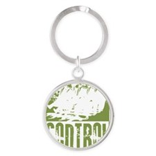control image copy Round Keychain