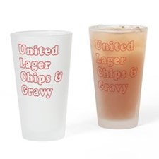 Manchester United Drinking Glass