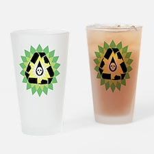 oil_spill_point_skull_03 Drinking Glass