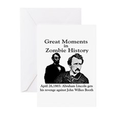 Great Moments in Zombie History Greeting Cards (Pa