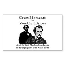 Great Moments in Zombie History Sticker (Rectangul