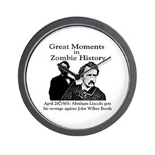 Great Moments in Zombie History Wall Clock