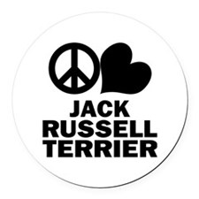 FIN-peace-love-JRT Round Car Magnet