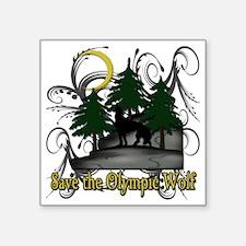 "olympic wolf copy Square Sticker 3"" x 3"""