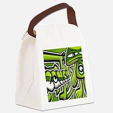 QueasyNoteCardKanji Canvas Lunch Bag