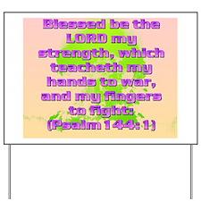 Psalm144-1(mousepad) Yard Sign