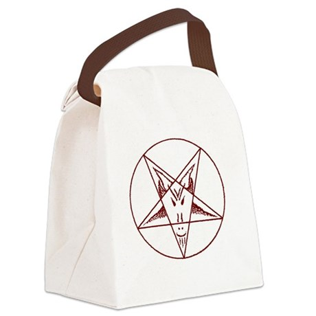 10x10_apparel(red4black) Canvas Lunch Bag