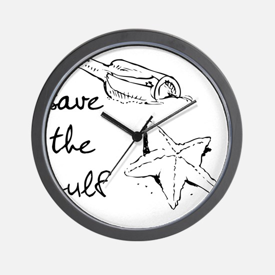 starfish-savegulf Wall Clock