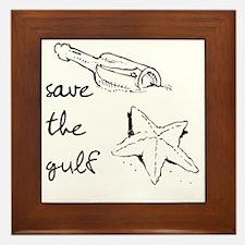 starfish-savegulf Framed Tile