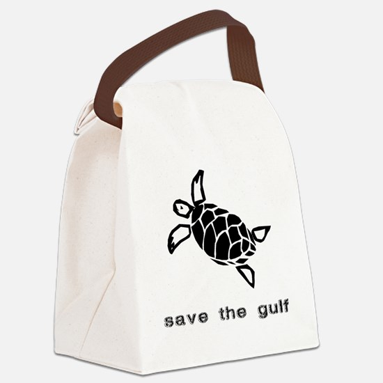 turtle-oil Canvas Lunch Bag