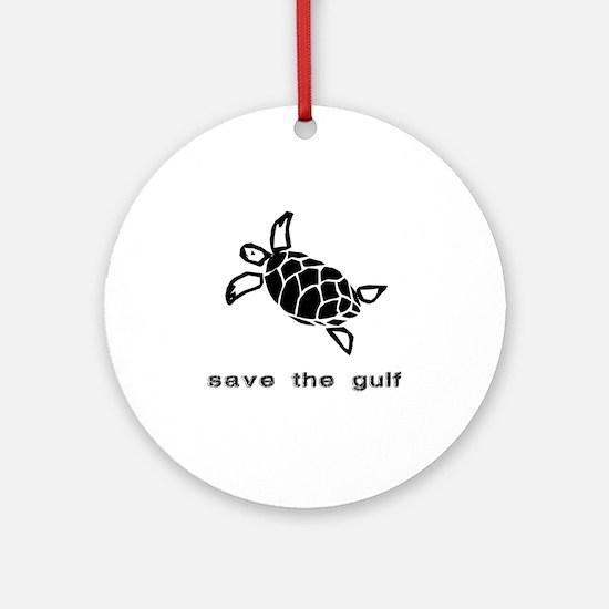 turtle-oil Round Ornament