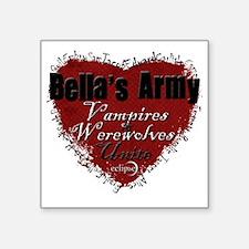 """Bellas Army Square Sticker 3"""" x 3"""""""