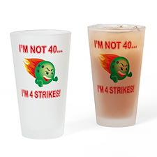 strikes40 Drinking Glass