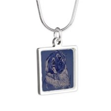 A Dog Understands Silver Square Necklace