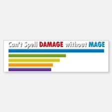 Cant Spell Damage without Mage Wo Sticker (Bumper)