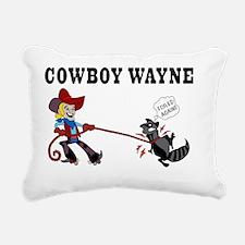 Cowboy Wayne Rectangular Canvas Pillow