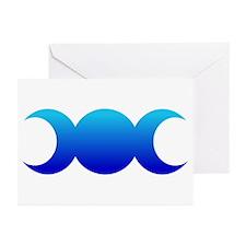 Blue Triple Goddess Greeting Cards (Pk of 10)