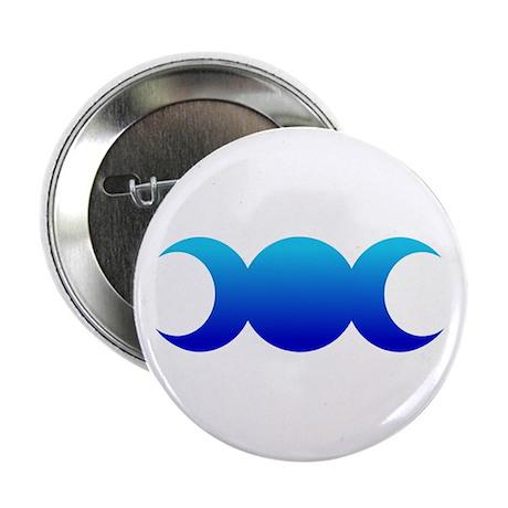 """Blue Triple Goddess 2.25"""" Button (10 pack)"""